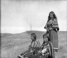 3 girls taken at Two Medicine River-Alfred Haddon image