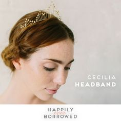 Emma Katzka takes on modern crown jewels with this amazing tiara!  You can wear it with any updo you prefer and can be tied in the back using the included ivory ribbon!  Rent it and crown yourself for your wedding day    https://www.happilyeverborrowed.com/collections/headbands/products/cecilia-headband?variant=35287139986