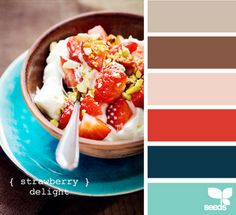 Red + teal + brown