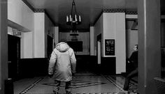 scary gif blood film Black and White movie creepy classic horror kill crazy dark morbid insane Stanley Kubrick blog darkness Macabre Horror Movies The Shining Jack Torrance Stephen King jack nicholson bloody horror film horrible horror gif terrifying horror blog The Overlook Hotel