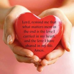 What matters most is love