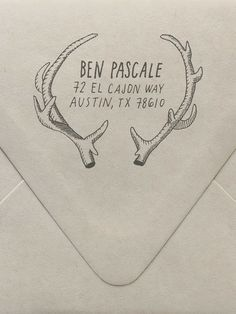Antlers Return Address Custom Stamp
