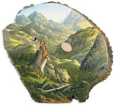 Vakre malerier på falt Tree Logger Mirror deres naturlige Origins - Min Modern Met