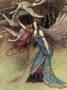 The Six Swans by Warwick Goble