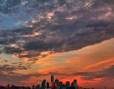 Beautiful sunset - Dallas Skyline Photo by Joseph Haubert