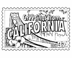 Want to share more about your state with your sponsored child? This site has a bunch of coloring pages for each state. I love these postage stamp coloring pages!