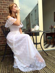 Vintage lace wedding dress European size 34-36 trouwenvantoen@hotmail.com