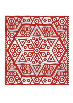 Hexagon rot-weiß