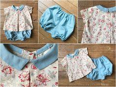 Vous en reprendrez bien un p'tit peu?... Look Plus, Gym Shorts Womens, Summer Dresses, Diy, Fashion, Baby Sewing, Bebe, Bloomer, Recycling