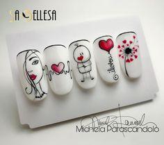 Fun Nails, Girly Things, Nail Designs, Minimal, Amazing Nails, Nail Art, Romantic, Salon Ideas, Valentino