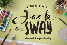 JackSway font by JROH Creative on @creativemarket