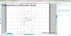 Editing points in Silhouette Studio Designer Edition. Save 40% off Designer Edition software with code: CRAFT {click for details}