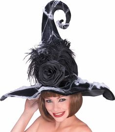 Rose Witch Hat Accessory