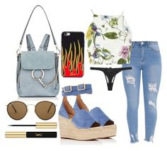 """""""Untitled #2435"""" by sv-c ❤ liked on Polyvore featuring Glamorous, Fleur du Mal, Chloé, Ray-Ban and Yves Saint Laurent"""