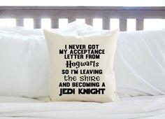 Non ho mai avuto mia lettera di accettazione da Hogwarts così sto lasciando la contea per diventare un cavaliere Jedi - ventilatore cuscino