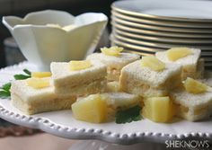 These pineapple tea sandwiches look yummy...a new twist from the traditional.