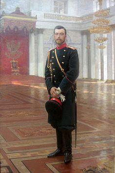 Repin, Ilya (1844-1930) - 1896 Portrait of Emperor Nicholas II (Russian Museum, St. Petersburg)