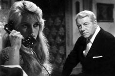 0 BRIGITTE BARDOT on the phone watched by JEAN gabin