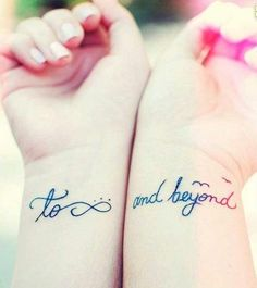 To infinity and beyond tattoo on the wrist #bestfriend #bff #tattoo #womentriangle