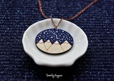 "Wood Laser cut Pendant starry sky with the constellation ""Ursa Major"" $12 gift etsy"