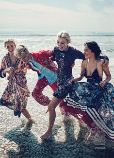 Lucky Blue Smith Reunites with Sisters for Marie Claire Story