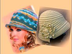 Теплая шляпка крючком. Часть 1 - донышко .Crochet hat with fields - YouTube