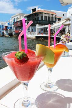 Cocktails in Little Venice, Mykonos