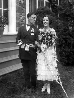 bride + groom, buster keaton + natalie talmadge | 1921 | #vintage #1920s #wedding