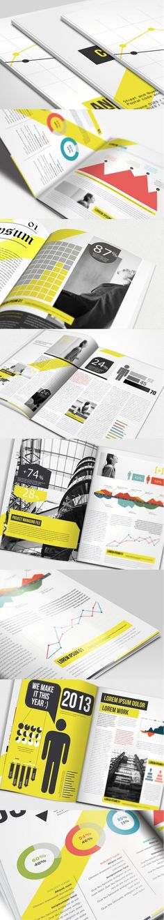 Annual Report Brochure - Click image to find more design Pinterest pins