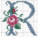 I alfabeto celeste virgolettato con rosa ile ilgili görsel sonucu Cross Stitch Letters, Cross Stitch Boards, Crewel Embroidery, Cross Stitch Embroidery, Handmade Crafts, Diy And Crafts, Le Point, Cross Stitching, Stitch Patterns