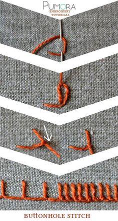 Pumora's embroidery stitch-lexicon: the buttonhole stitch