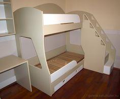 Emeletes ágy - fiókos lépcsővel, leesésgátlóval, kihúzhatós ágyneműtartóval (gysz1501097) Bunk Beds, Furniture, Home Decor, Decoration Home, Loft Beds, Room Decor, Home Furnishings, Home Interior Design, Bunk Bed