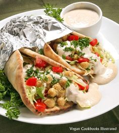 """Chickpea Shawarma from """"Vegan Sandwiches Save the Day"""""""
