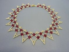FREE beading pattern for Honeycomb Net necklace
