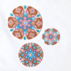 Mandalas hama perler beads by coriander_dk