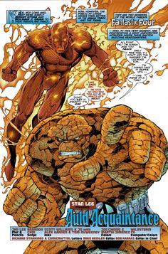 The Thing and Human Torch - Fantastic Four / Marvel Comics Marvel Comics Superheroes, Marvel Art, Marvel Heroes, Marvel Characters, Comic Book Heroes, Comic Books Art, Comic Art, Book Art, Fantastic Four Comics