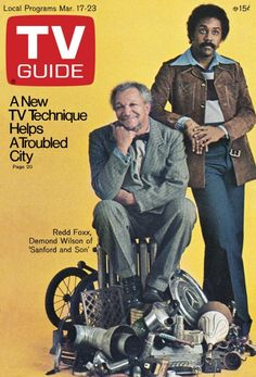 TV Guide March 17, 1973 - Redd Foxx and Demond Wilson of Sanford and Son.