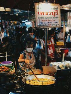 Busy nights at Phuket Town Market, Thailand