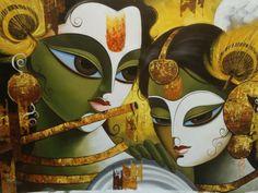 krishna radha painting - beautiful!