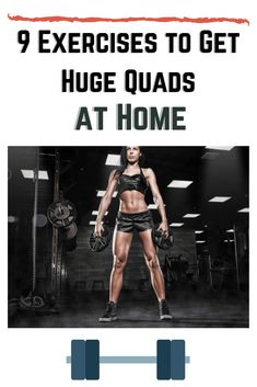 """""""Getting huge"""" isn't required to get fit, but it can be a fun short-term goal. And even if you don't want huge quads, there are many reasons to make them stronger. Short Term Goals, How To Slim Down, Health Fitness, How To Get, Strong, Exercise, Fun, Ejercicio, Excercise"""