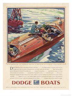 Advertisement for Dodge Boats Giclee-vedos tekijänä Ellis Wilson AllPosters.fi-sivustossa
