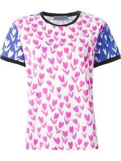 EMANUEL UNGARO Tulip Print T-Shirt. #emanuelungaro #cloth #t-shirt