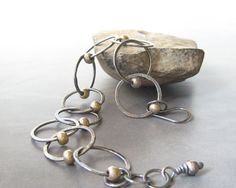 fine silver bracelet metalwork torch fused rings by theBeadAerie, $115.00