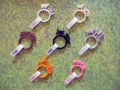 Farm, 7 anelli con animali di LOHN Design by Digital Fabrication su DaWanda.com