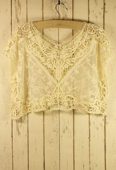 Lace Crochet Crop Top