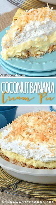 Coconut Banana Cream Pie.