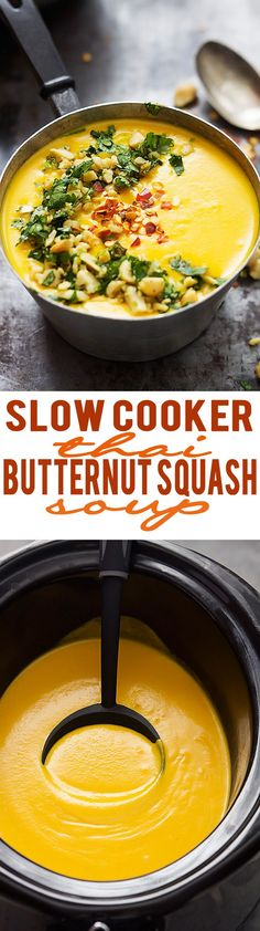 Thai Butternut Squash Soup in your slow cooker.