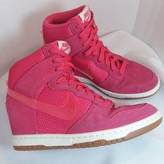 timeless design 5fee0 9fdc2 Nike Shoes   Nike Sky Hi Dunk Wedges Sz 7.5   Color  Pink   Size