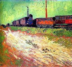 Vincent van Gogh, Wagons de chemin de fer, c. 1888.