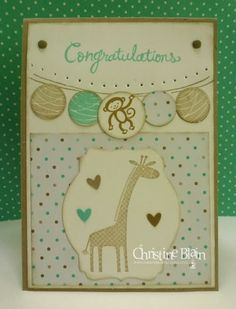 HAPPY HEART CARDS: STAMPIN' UP! HAPPY CONGRATULATIONS MEETS ZOO BABIES